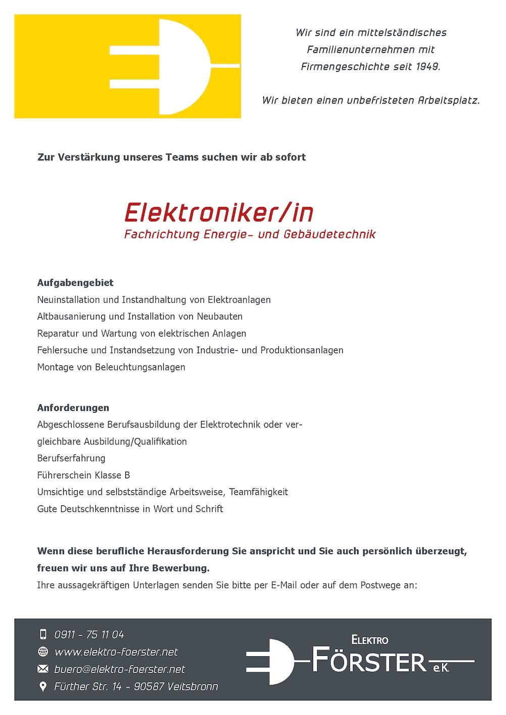 elektro_foerster_stellenanzeige